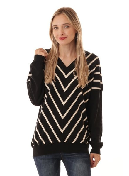 IJoah V Stripe Sweater