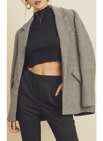 Dress Forum Houndstooth Boyfriend Jacket