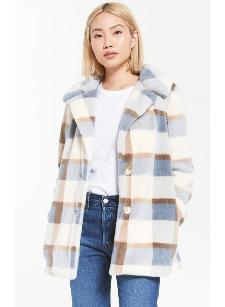 Z Supply Glacier Plaid Coat