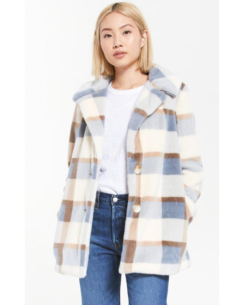 Z Supply Glacier Plaid Coat