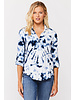 Icy Tie Dye Button Blouse
