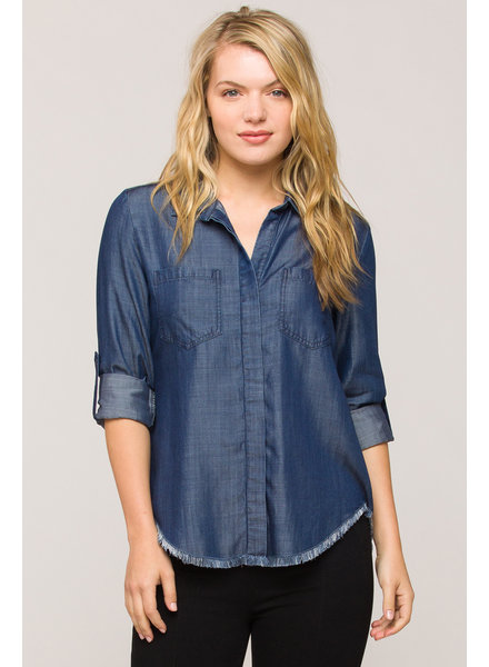 Blue Horizon Button Blouse