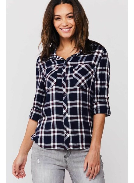 Sirena Plaid Button Down