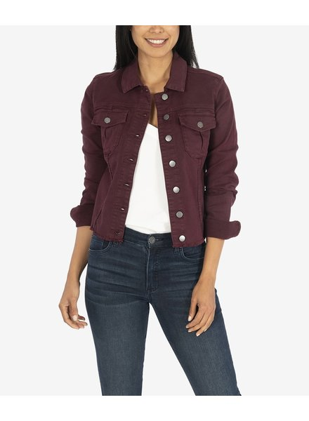 KUT From The Kloth Kara Jacket Wine