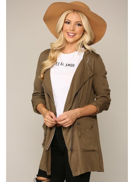 Be Cool Soup Season Trench Coat