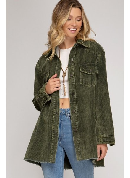 Olive Branch Button Jacket
