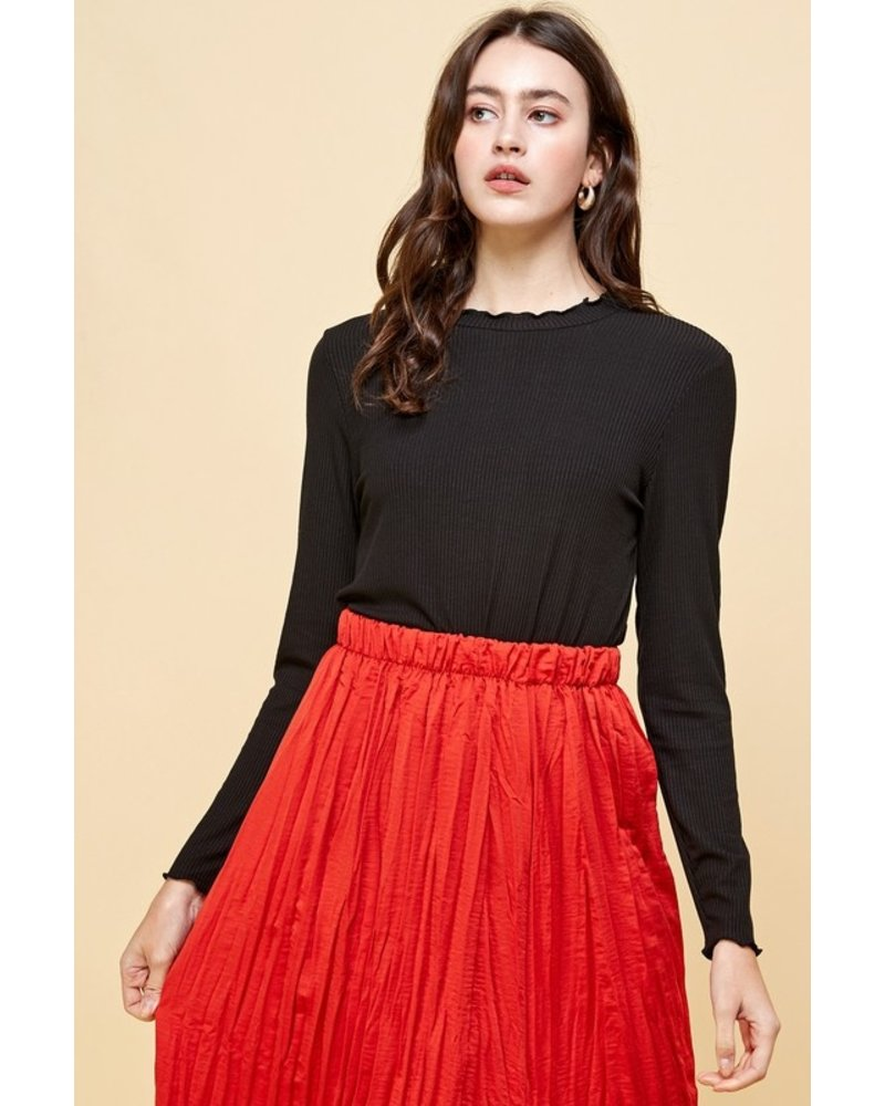 Les Amis Cup Of Warm Ruffle Top