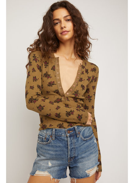 Free People One Of The Girls Button Top