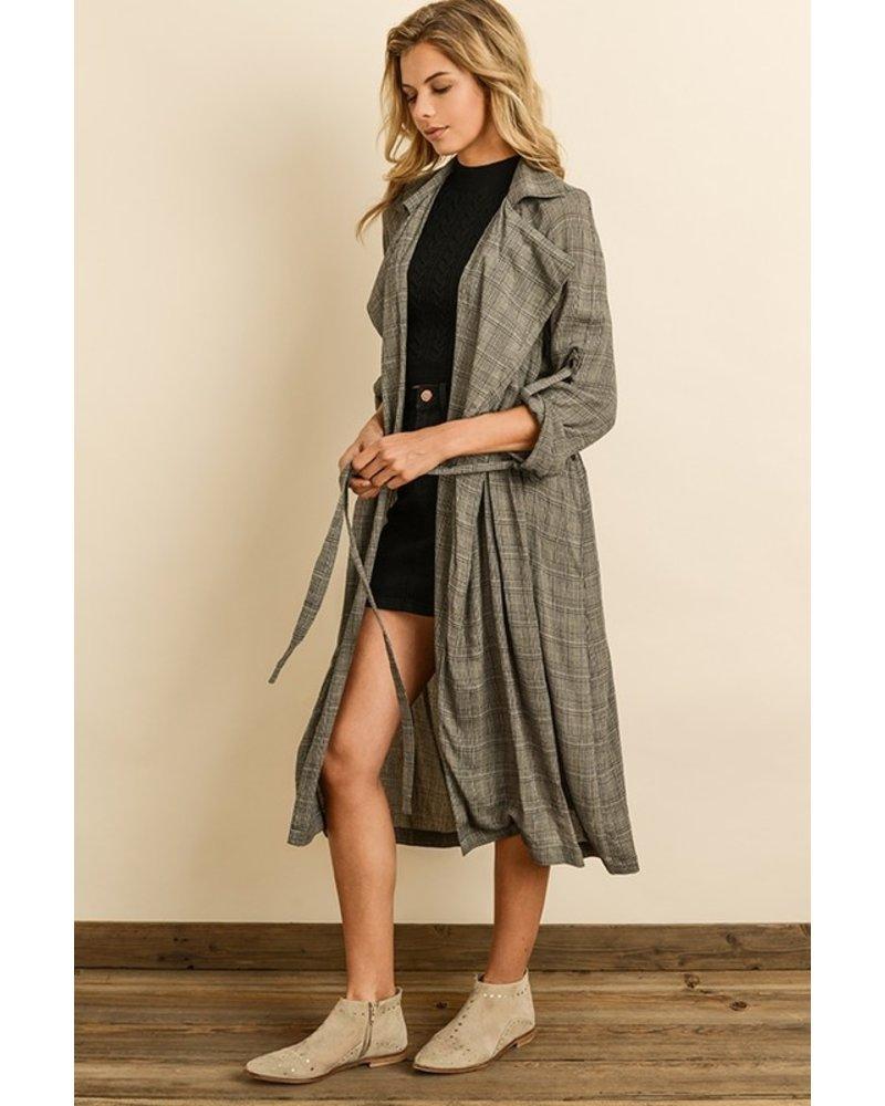 Dress Forum Glen Plaid Trench Coat