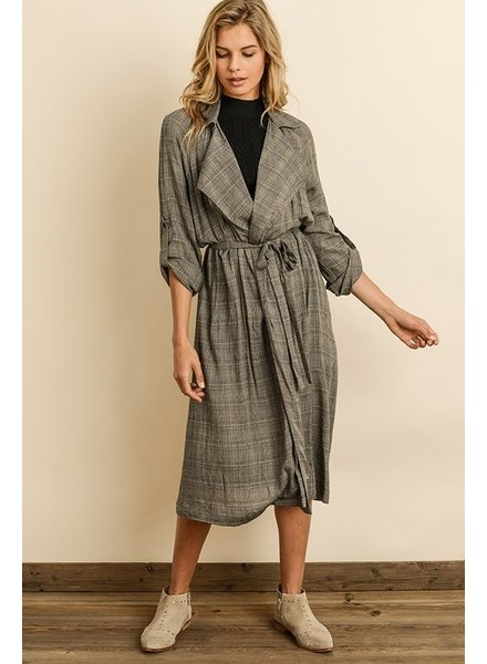 Dress Forum Glen Plaid Trench Coat