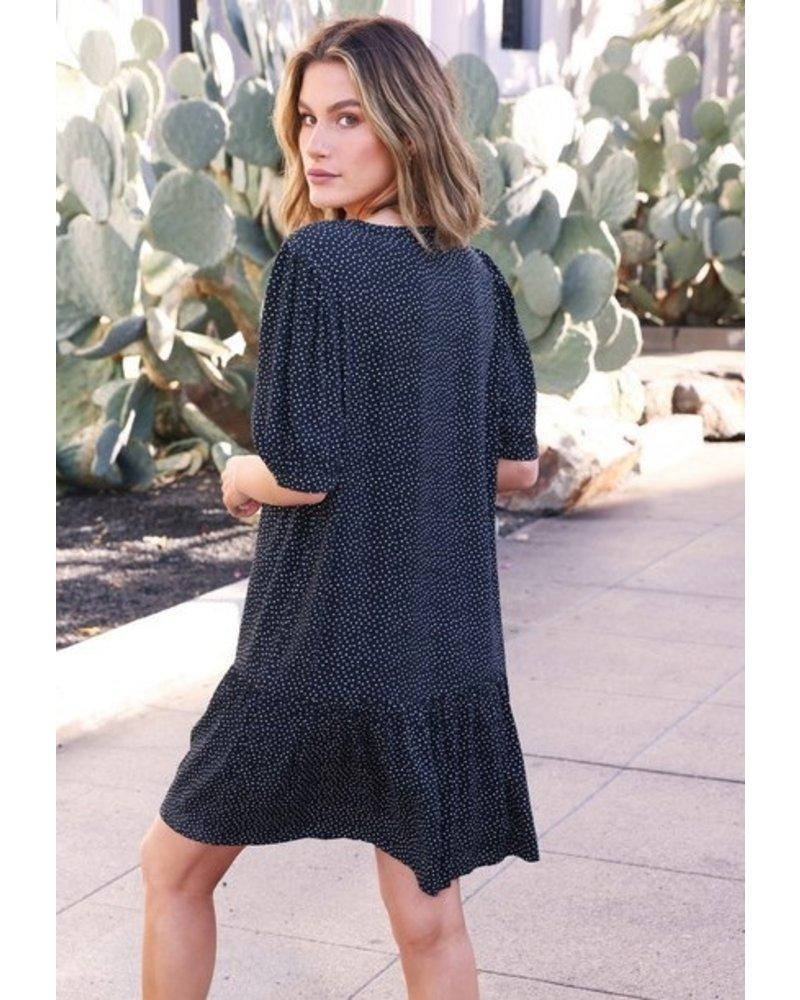 Love Stitch Night Breeze Button Dress