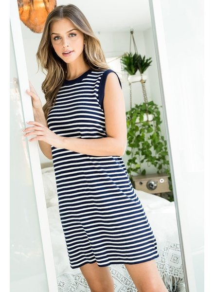 THML Clothing Parting Clouds Stripe Dress