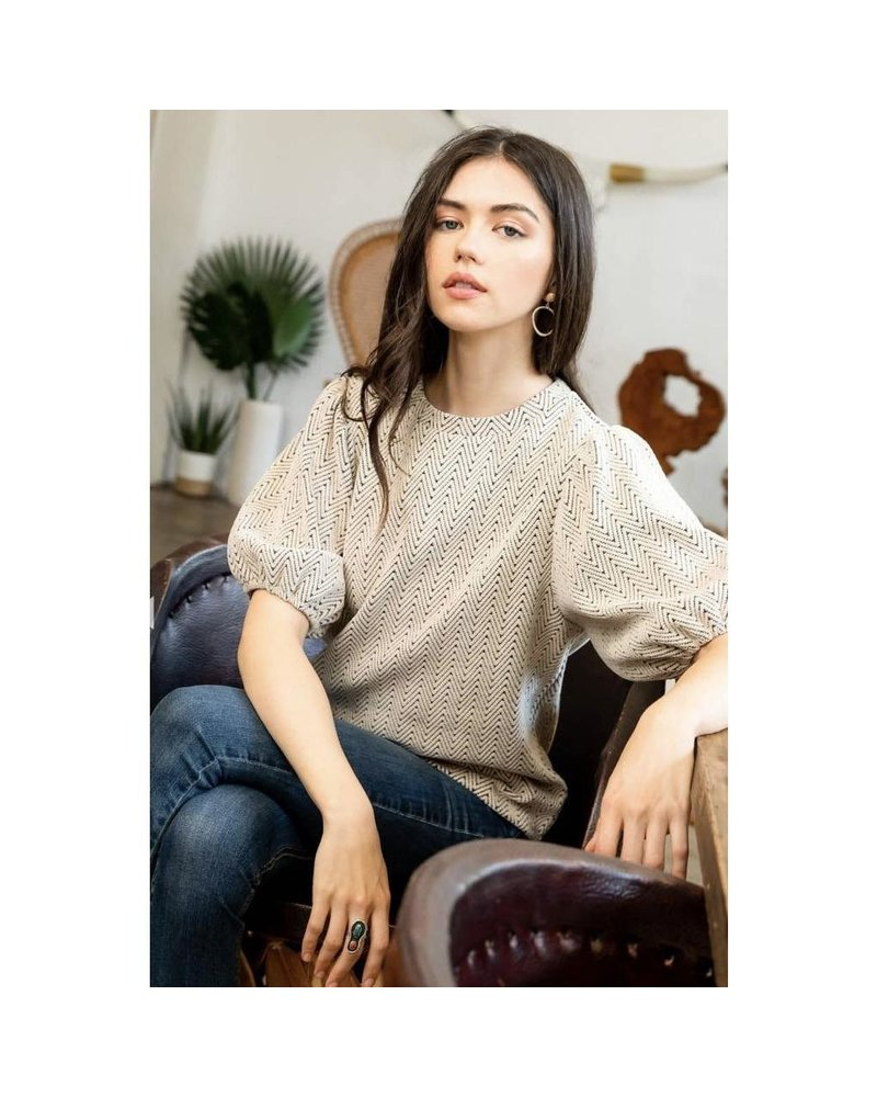 THML Clothing Phebe Puff Top