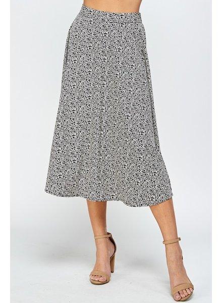 Sun Drop Floral Skirt