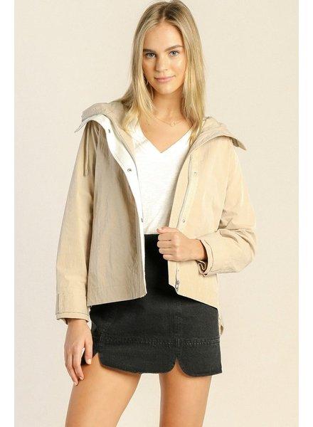 Knit Back Anorak Jacket