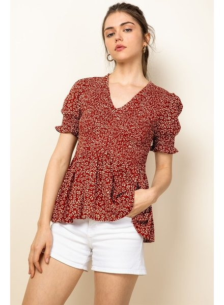 THML Clothing A-Bouquet Smock Top