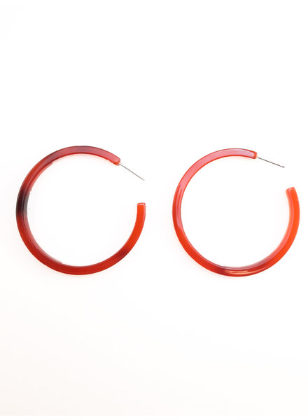 NAT And NOOR Zuri Tortoise Hoops