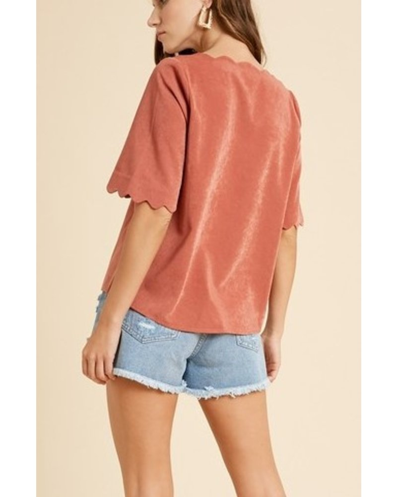 Staycation Button Blouse