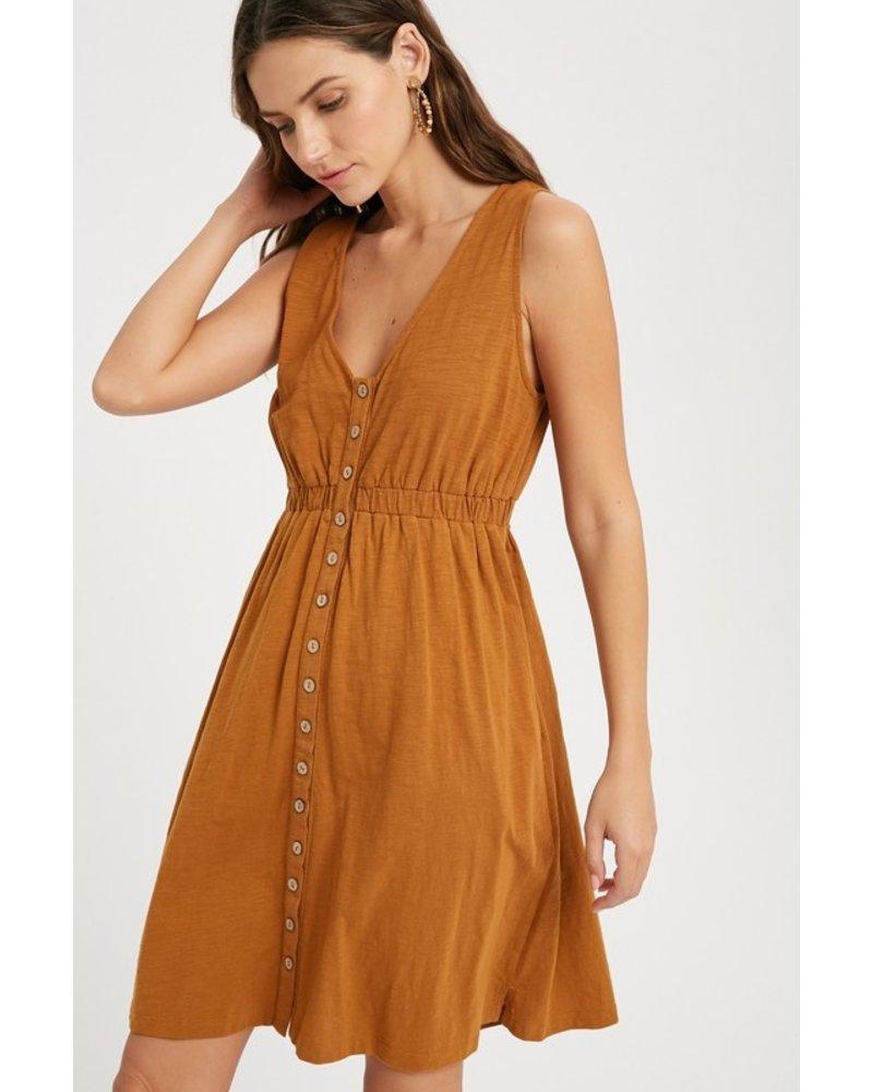 Flourish Button Dress