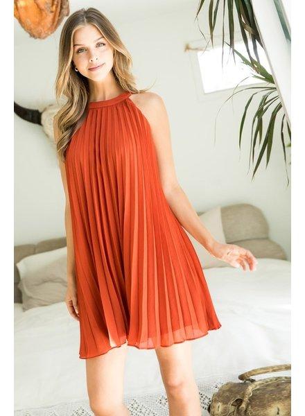 THML Clothing Sweet Pleats Dress