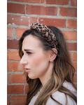 Pleated Leopard Headband