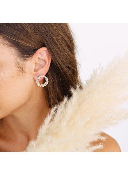 Linny Co Vivian Wreath Earrings