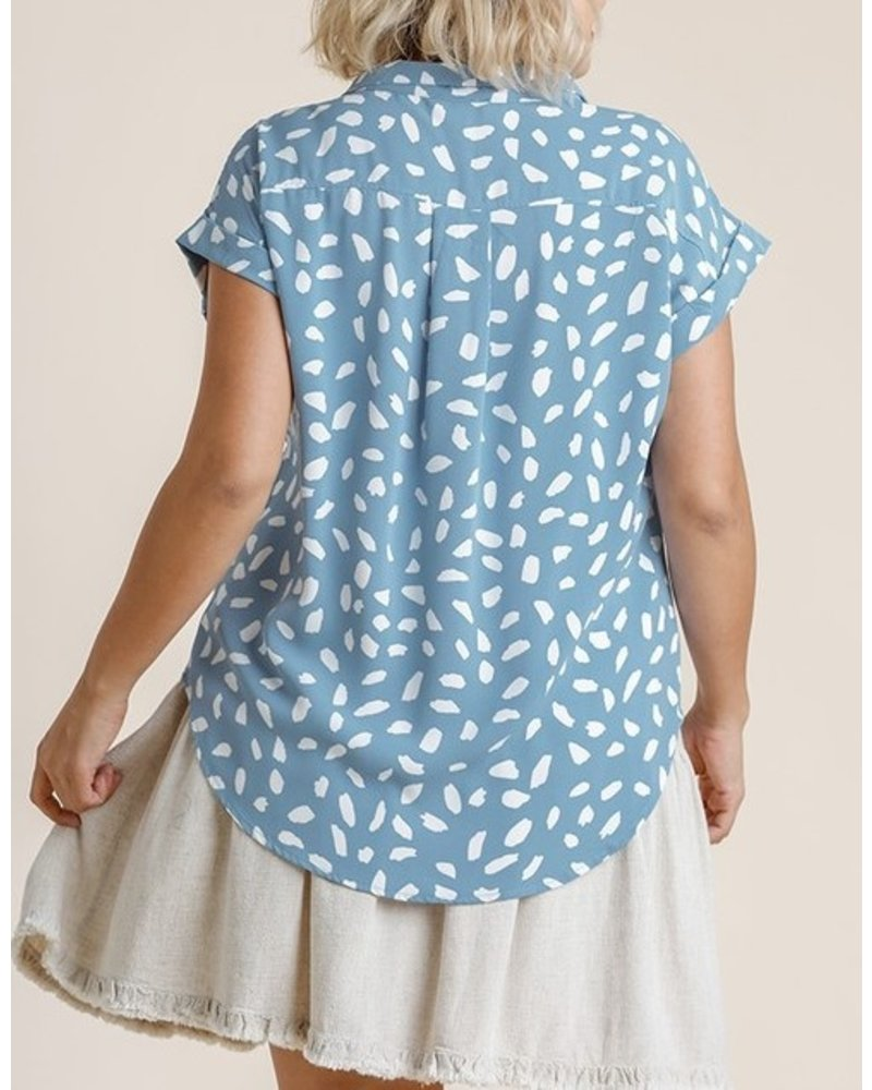 Umgee Chance Of Clouds Blouse