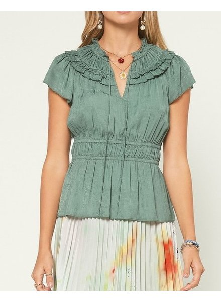 Current Air On The Table Ruffle Blouse
