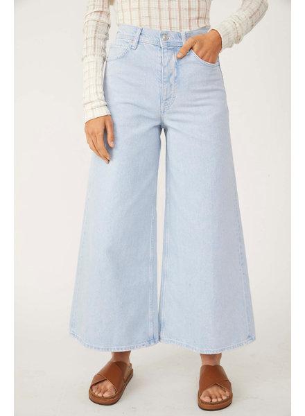 Free People Landry Wide Crop Jean