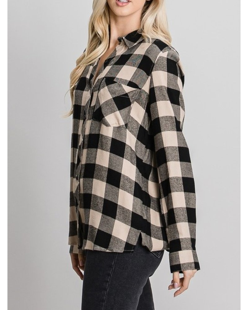 Be Cool Here Comes Fall Button Down