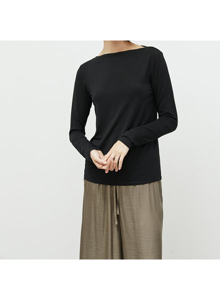 Grade and Gather Start Here Boat Neck Top