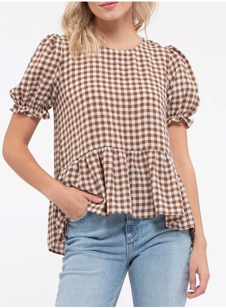 Tongue Tied Gingham Blouse
