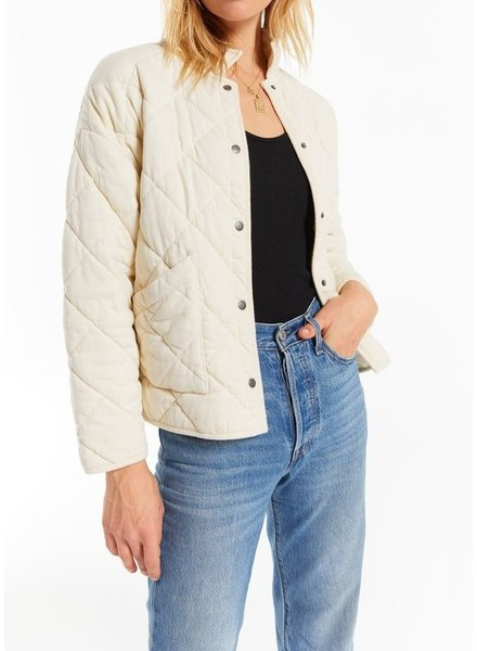 Z Supply Maya Quilted Jacket Bone