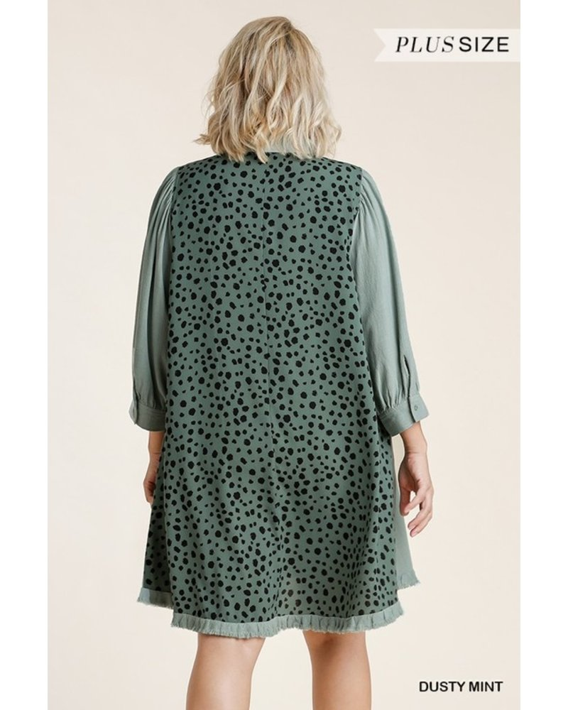 Umgee Well Spotted Button Dress