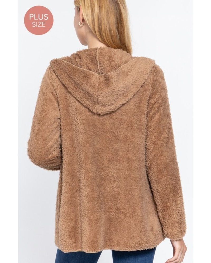 Active USA Fab Faux Fur Fluffy Jacket