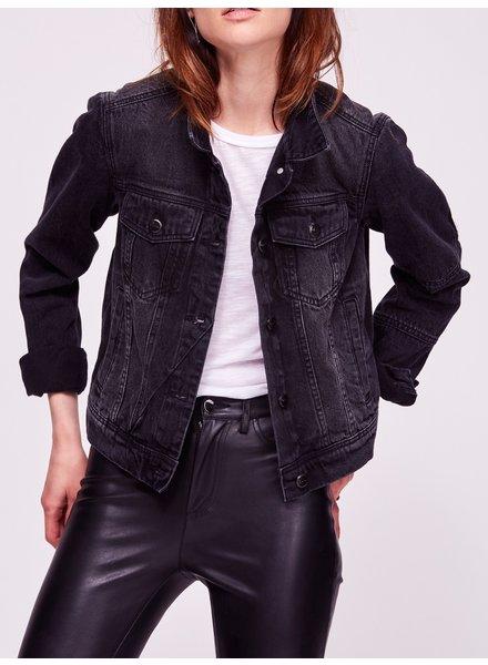 Free People Rumors Denim Jacket Black