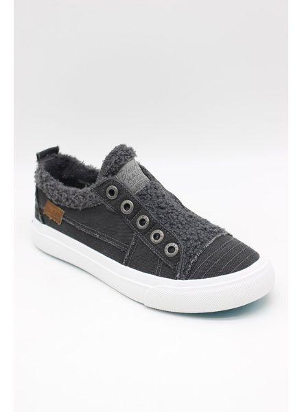 Fur Coat Sneaker Black