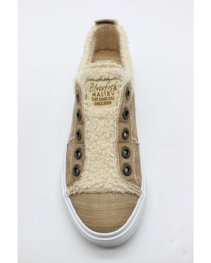 Fur Coat Sneaker Khaki