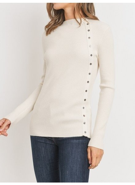 Patch Things Up Pullover Ivory