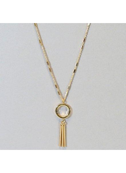 Triple Stick Pendant Necklace