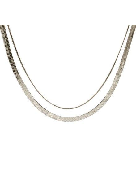 Hayride Herringbone Layer Necklace