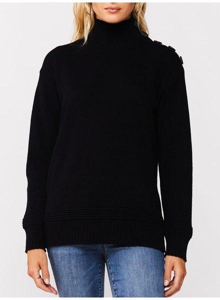 Amorita Button Shoulder Pullover