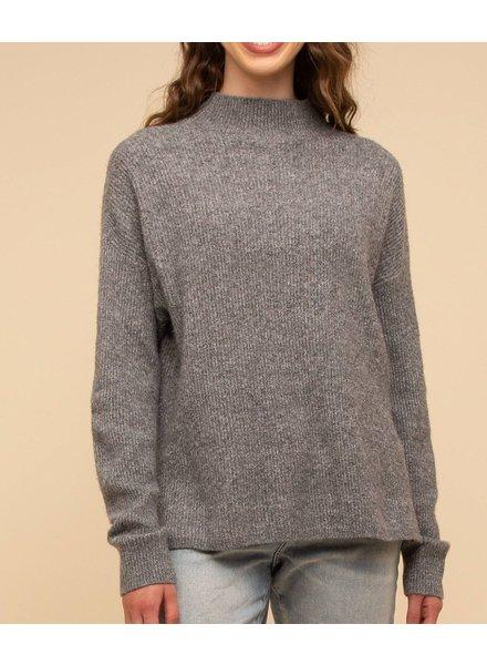 Natalie Mock Neck Sweater Charcoal