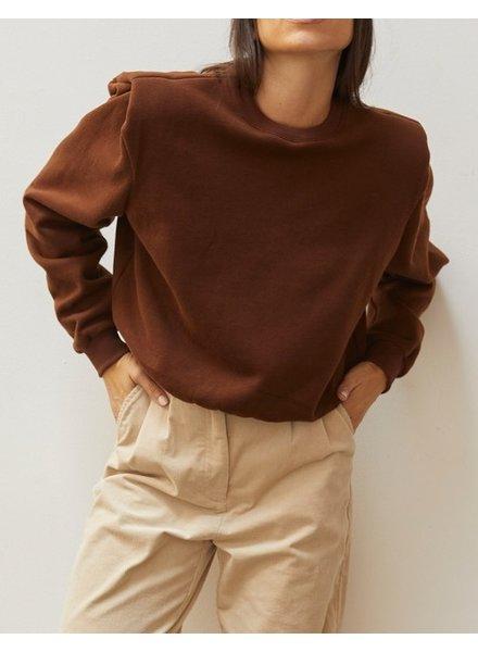 Zoe Power Shoulder Sweatshirt