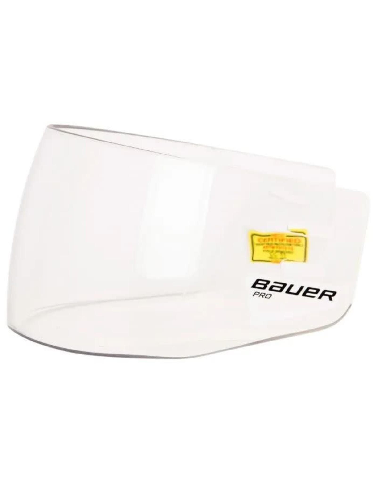 BAUER Pro, Straight Visor Clear - '17 Model