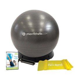 MERRITHEW Stability Ball with Base Bundle