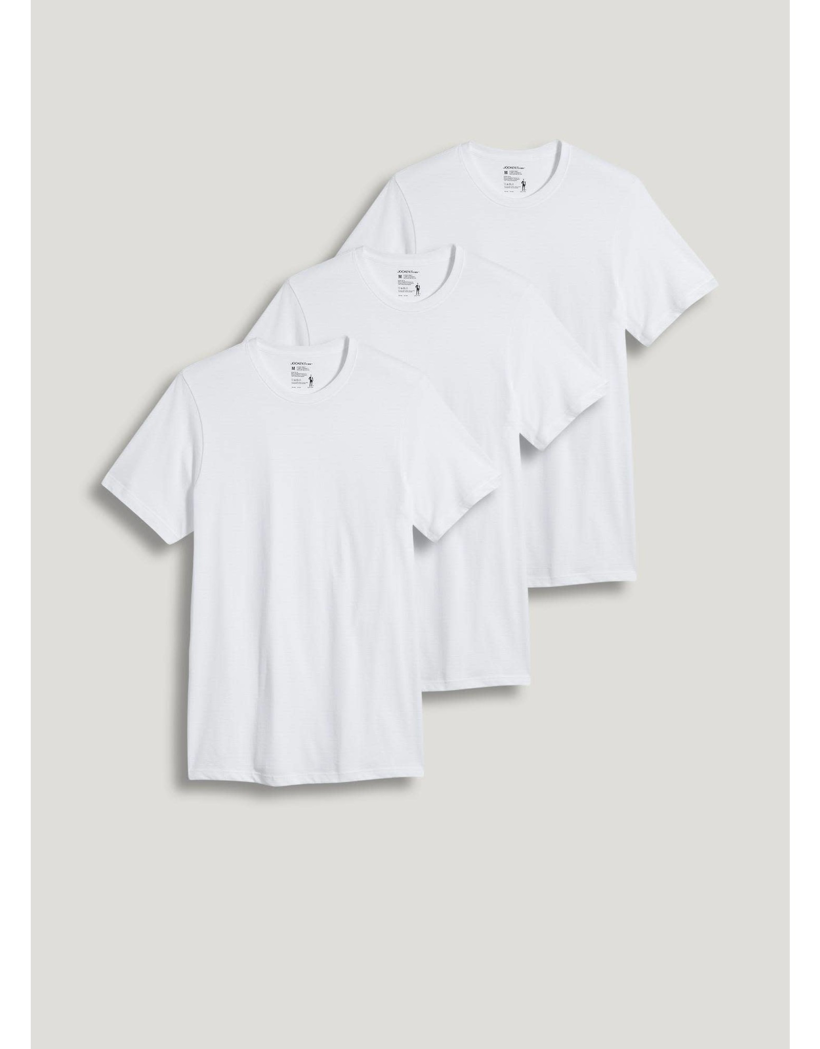 JOCKEY Classic Knits 100% Cotton T-Shirts, Crew Neck (3 Pack)