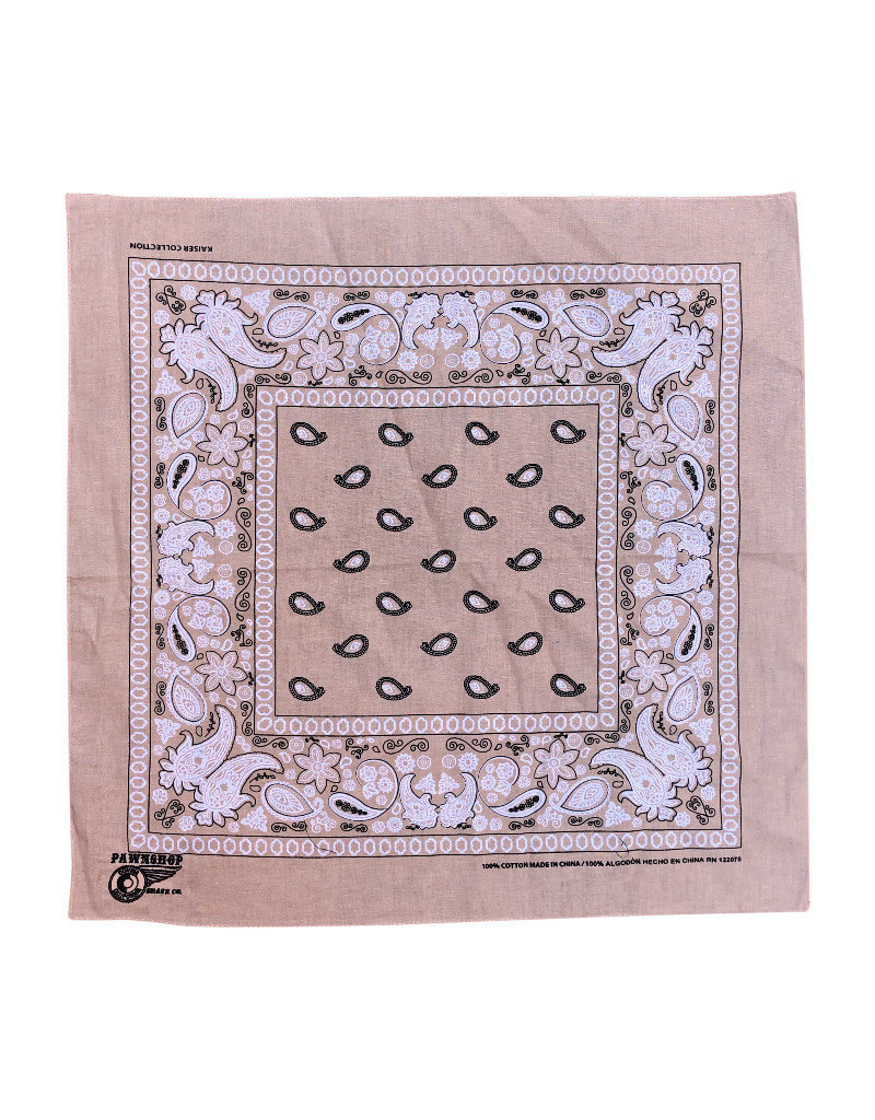 Pawnshop Pawnshop Black Embroidered Bandana