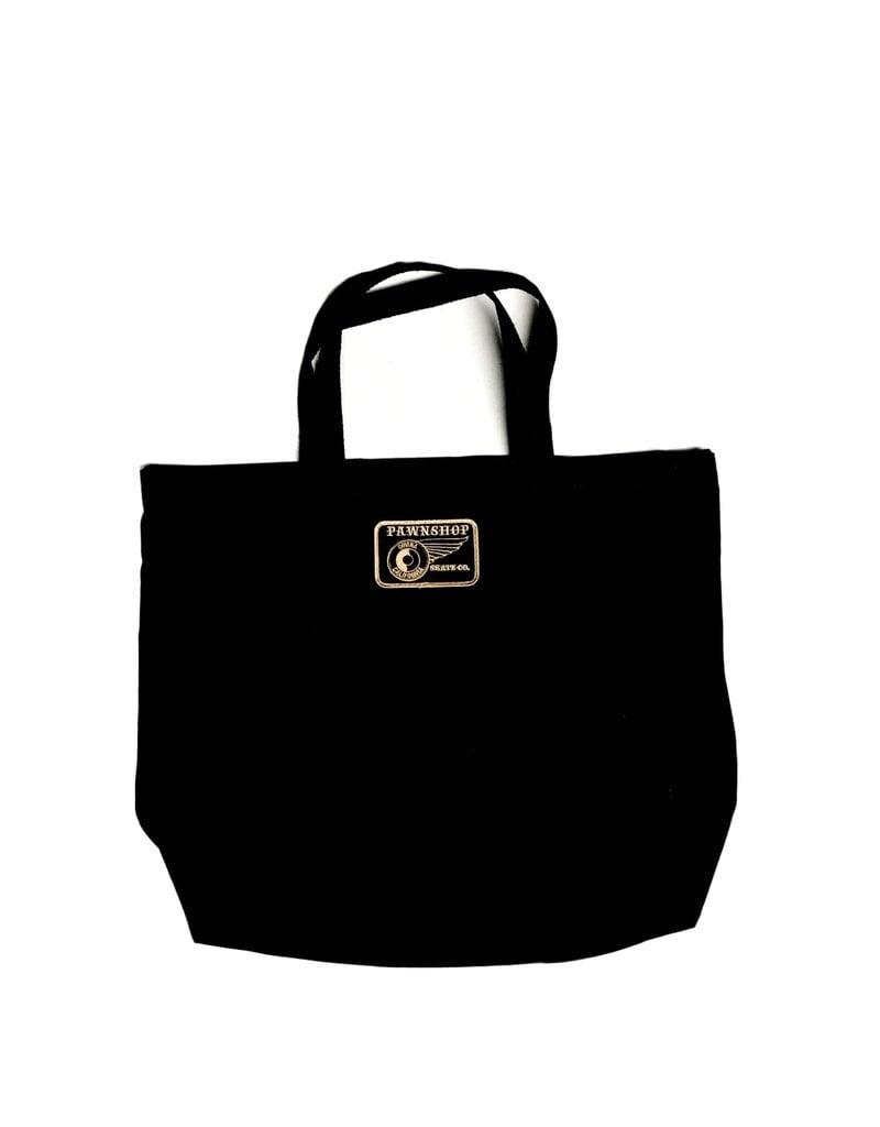 Pawnshop Pawnshop Black & Gold Wing & Wheel Tote Bag