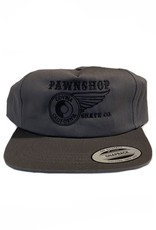 Pawnshop Pawn Black Embroidered Deconstructed Hat